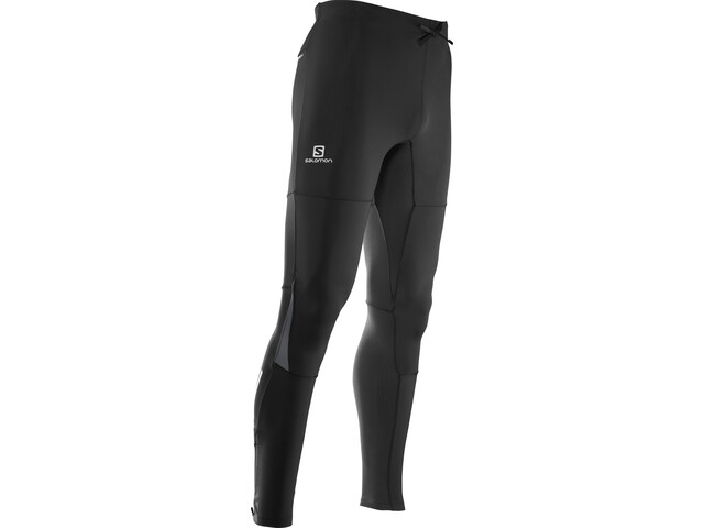 Salomon Pulse Warm Tights Herren black/forged iron